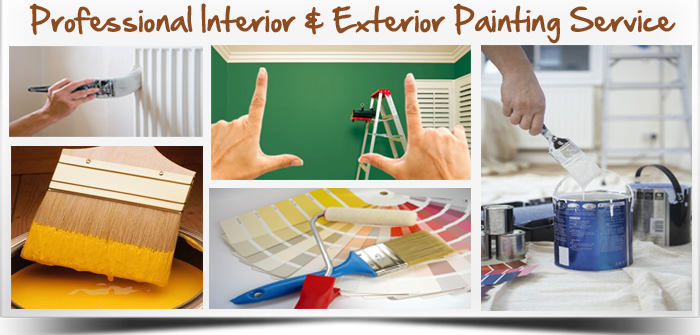 Handpaint furniture domestic painting service - Interior exterior painting services set ...